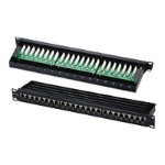 "Cables To Go 24-Port Cat5E Shielded High density Patch Panel - Patch panel - black - 19"" - 24 ports 03864"