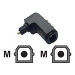 Velocity Velocity Right Angle TOSLINK Port Saver Adapter - Digital audio adapter - TOSLINK (M) to TOSLINK (F) - fiber optic - black - right-angled connector