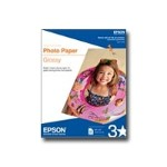 Epson Glossy photo paper - bright white - Letter A Size (8.5 in x 11 in) 50 sheet(s) - for Artisan 50; WorkForce 1100, 30, 310, 40, 600, 610, WF-2520, 2530, 2540, 2750, 2760, 3540 S041649