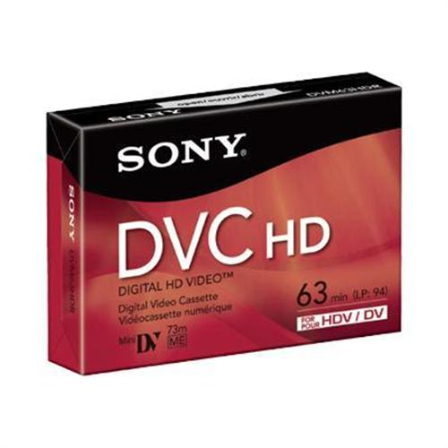 Sony DVM 63HDR - High Definition - Mini DV tape - 1 x 63min