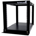 12U 4 Post Server Equipment Open Frame Rack Cabinet - Rack - black - 12U - for P/N: CABSCREWM6, CABSCREWM62
