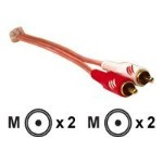 Metra Electronics Raptor Installation series - Audio cable - RCA (M) to RCA (M) - 15 ft - shielded ISRCA-15