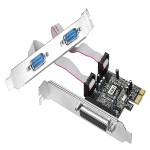 Cyber 2S1P PCIe - Parallel/serial adapter - PCIe - parallel, RS-232 - 2 ports + 1 x parallel port