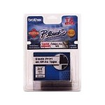 "Brother Black On Clear 1/4"" Tape TZE-111"