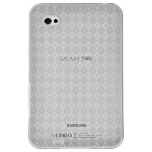 Amzer Luxe Argyle High Gloss TPU Soft Gel Skin Case - Clear For Samsung GALAXY Tab GT-P1000
