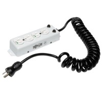 TrippLite Power Strip Hospital Grade 4 Outlet UL1363A 3ft-10ft Coiled Cord PS-410-HGOEMCC