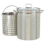 Bayou Classic 11 Gal Stockpot Stainless Steel For Steaming Frying