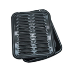 2 Piece Porcelain Broiler Pan with Grill