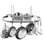 Stainless Steel Oval Hanging Pot Rack