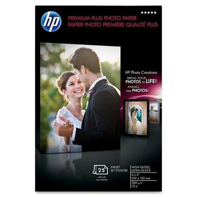 HPPremium Plus Soft-gloss Photo Paper - 25 sht/Letter/8.5 x 11 in(CR671A)