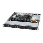 Supermicro SC113 TQ-R500CB - Rack-mountable - 1U - extended ATX - SATA/SAS - hot-swap 500 Watt - black