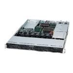 Supermicro SC815 TQ-R500UB - Rack-mountable - 1U - extended ATX - SATA/SAS - hot-swap 500 Watt - black