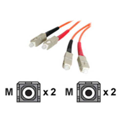 StarTech 2m Multimode Duplex Fiber Optic Cable SC-SC