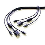 StarTech 15 ft. PS/2-Style 3-in-1 KVM Switch Cable SVPS23N1-15