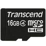 Transcend 16GB microSDHC Class 4 Flash Memory Card With Adapter TS16GUSDHC4