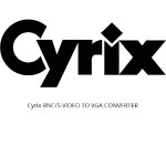 Cyrix BNC/S-VIDEO TO VGA CONVERTER CXBV