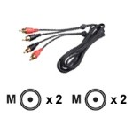 Audio cable - RCA (M) to RCA (M) - 6 ft