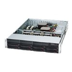 Supermicro SC825 TQ-R740LPB - Rack-mountable - 2U - extended ATX - SATA/SAS - hot-swap 740 Watt - black