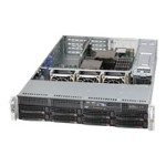 Supermicro SC825 TQ-R740WB - Rack-mountable - 2U - extended ATX - SAS - hot-swap 740 Watt - black