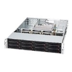 Supermicro SC826 E16-R1200UB - Rack-mountable - 2U - extended ATX - SATA/SAS - hot-swap 1200 Watt - black