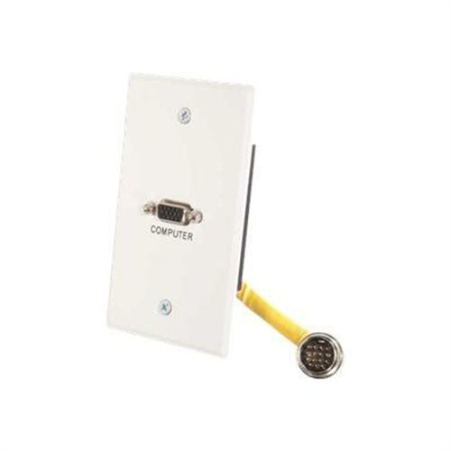 Cables To Go RapidRun Single Gang Integrated HD15 - wall plate