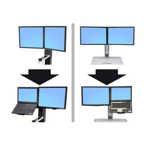 Ergotron WorkFit Convert-to-LCD & Laptop Kit from Dual Displays, for WorkFit-S or WorkFit-C - mounting component