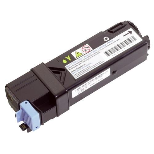 Dell 2,500 Page Yellow Toner Cartridge for Dell 2130cn Color Laser Printer
