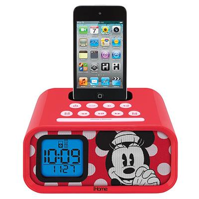 iHome eKids Minnie Mouse Dual Alarm Clock and 30-pin iPod Speaker Dock (DM-H22)