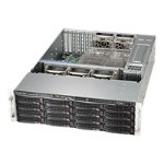 Supermicro SC836 TQ-R500B - Rack-mountable - 3U - SATA/SAS - hot-swap 500 Watt - black - USB/serial
