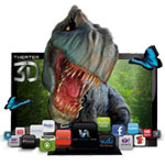 "Vizio 42"" 3D 120Hz 1080P LCD HDTV With Wi-Fi And VIZIO Internet Apps and 2 Glasses - Refurbished E3D420VX RB"