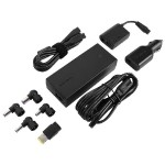 Laptop Travel Charger with USB Fast Charging Port - Power adapter - AC / car / airplane - for Acer Aspire F 15; Dell Latitude 3470, 3570; HP 240 G5; ProBook 450 G4, 640 G2, 65X G2
