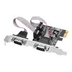 JJ-E02111-S1 - Serial adapter - PCIe low profile - RS-232 x 2