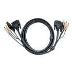 2L-7D03UI - Video / USB / audio cable - USB, stereo mini jack, DVI-D (M) to stereo mini jack, USB Type B, DVI-D (M) - 10 ft - for  CS1768