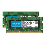 Crucial 8GB Kit (4GBx2) DDR3 1600 MT/s (PC3 - 12800) CL11 SODIMM 204-Pin 1.35V/1.5V Notebook Memory Modules CT2KIT51264BF160B