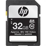 HP 32GB High Speed SDHC Class 10 Flash Memory Card