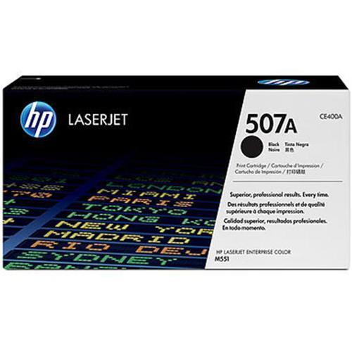 HP 507A Black LaserJet Toner Cartridge with ColorSphere Toner