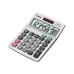 MS-80S - Desktop calculator - 8 digits - solar panel, battery - silver metallic
