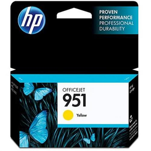 HP 951 Yellow Officejet Ink Cartridge - can be used with the HP Officejet Pro 8600 series