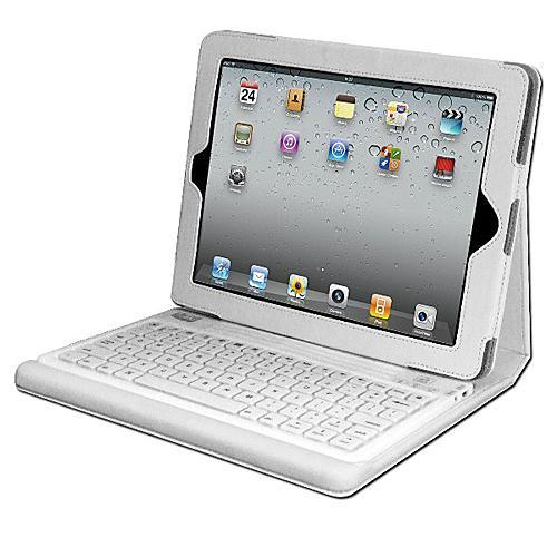 Adesso Compagno 2 (White) - Bluetooth 3.0 Keyboard with Carrying Case for new iPad and iPad 2