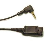 Phone cable - Quick Disconnect (M) to sub-mini phone stereo 2.5 mm (M) - 1.5 ft