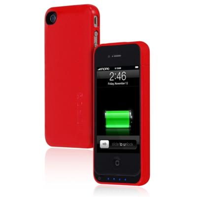 IncipioiPhone 4 4S offGRID Backup Battery Case - 1450mAh - Glossy Red(IPH-568)
