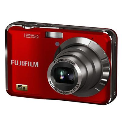 Fujifilm FinePix AX230 12MP 5X Zoom HD Movie mode Digital Camera Red - Refurbished (AX230RED-REF)