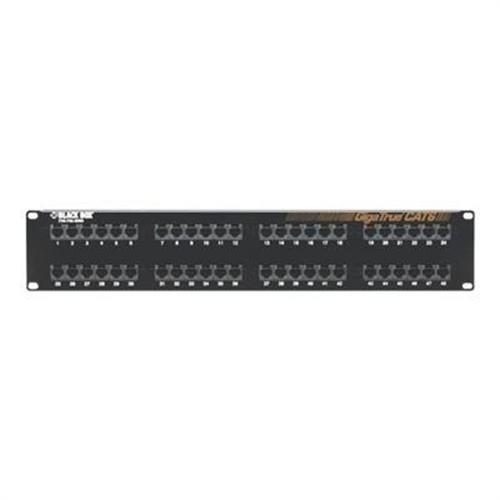 Black Box Gigatrue Cat6 Patch Panel 48 Port
