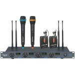 4-Microphone Wireless UHF System