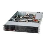 Supermicro SC213 LT-600LPB - Rack-mountable - 2U - extended ATX - SATA/SAS - hot-swap 600 Watt - black