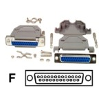 Assembled DB25 Female Solder D-SUB Connector with Plastic Backshell - Serial / parallel connector - DB-25 (F)