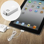 Portable Battery Charger - Power bank Li-Ion 8000 mAh - 2.1 A - 2 output connectors (USB (power only)) - for LIBRE Color Touch eBook Reader; Amazon Kindle Fire; Apple iPad 2; iPhone 3G, 3GS, 4, 4S