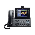 Cisco Unified IP Phone 9971 Standard - IP video phone - IEEE 802.11b/g/a (Wi-Fi) - SIP, RTCP, SRTP - multiline - charcoal gray CP-9971-C-A-C-K9=