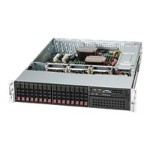 Supermicro SC213 A-R740LPB - Rack-mountable - 2U - extended ATX - SATA/SAS - hot-swap 740 Watt - black
