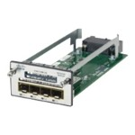 Expansion module - GigE - 4 ports - refurbished - for Catalyst 3560X-24, 3560X-48, 3750X-12, 3750X-24, 3750X-48